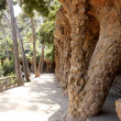 Columns in the Park Guell - Barcelona — Stock Photo