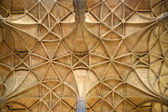 Geometrical ceiling in a cathedral — Stock Photo