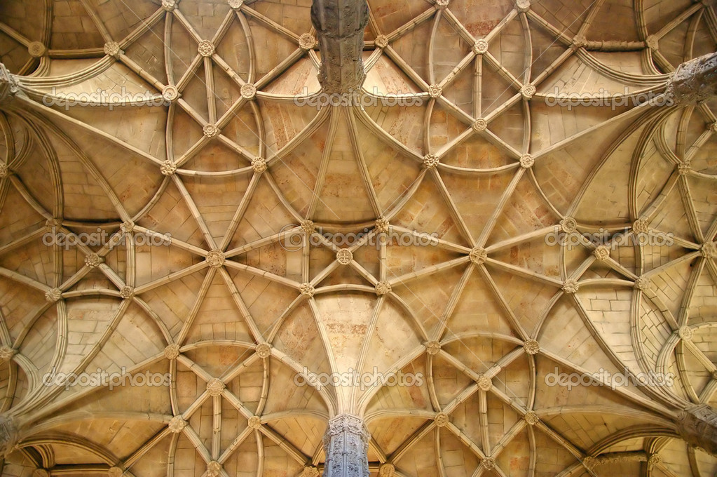 Detail of a dome made from bricks, forming geometrical shapes — Stock Photo #6377099