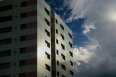 Block of flats in the sky — Stock Photo