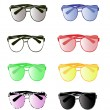 Colorful sunglasses - Stockvectorbeeld