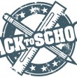 Classic Back to School Stamp - Stock Vector