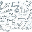 Royalty-Free Stock Vector Image: Hand Sketched Vector Doodle Arrows