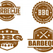 Vintage BBQ Graphics - Stock Vector