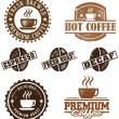 Vintage Style Coffee Stamps — Stock Vector