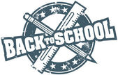 Classic Back to School Stamp — Stock vektor