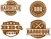 Vintage BBQ Graphics — Stock vektor