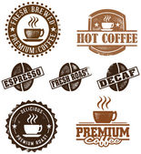 Vintage Style Coffee Stamps — Stockvector