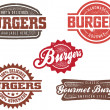 Classic Burger Stamp - Stok Vektr