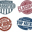 Top Secret & Classified Stamps — Stock Vector