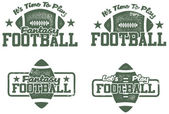 American Football Stamps — Stok Vektör