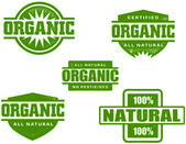 Organic Food Rubber Stamps — Stock Vector
