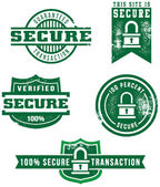 Web Security Stamps — Stock Vector
