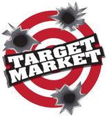 ターゲットとする市場 — ストックベクタ