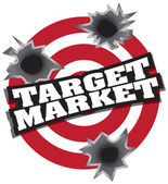 Cílový trh — Stock vektor