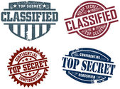 Top Secret & Classified Stamps — 图库矢量图片