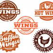 Chicken Wings - Stock Vector