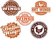 Chicken Wings — Stock Vector