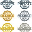 Vector Member Stamps - Stock Vector