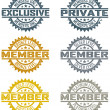 Royalty-Free Stock Vector Image: Vector Member Stamps