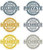 Vector Member Stamps — Stock Vector