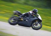 Sportbike Motorcycle Racer — Stock Photo