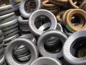 Car tires — Stock Photo