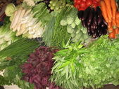 Vegetable sales stall — Stock Photo