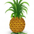 Stock Vector: Pineapple