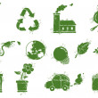 Stock Vector: Environment doodle icons