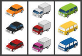 Isometric car set — Stock Vector