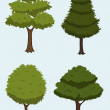 Royalty-Free Stock Immagine Vettoriale: Cartoon tree collection