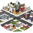 Intersection in the big city — Stock Vector