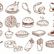 Royalty-Free Stock Vector Image: Food related icon set