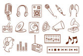 Audio related icon set — Stock Vector