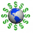 Dollars near the earth — Stock Photo #6298587