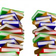 Stock Photo: Piles of books