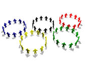 The Olympic symbol — Stock Photo