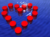 Heart in water — Stock Photo