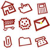Icons set — Stockfoto