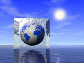 Earth in ice — Stock Photo
