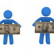 Stock Photo: Persons with money