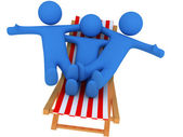 Persons on chaise Longue — Stock Photo