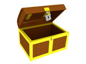 Empty treasure chest — Stock Photo