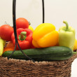 Stock Photo: Vegetable basket