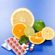 Fruits and vitamins - Stock Photo