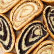Beigli - hungarian poppy seed and walnut rolls — Stock Photo