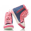 Sneakers for little girls - Stock Photo
