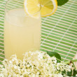 Elderberry flower flavored summer refreshment — Stock Photo #6405402