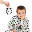 Bedtime for a displeased kid — Stock Photo #6409295